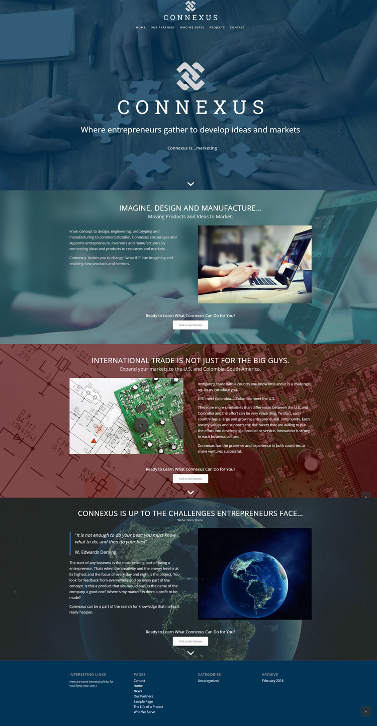 Web Design for Connexus