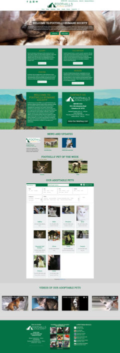 Web Design for Foothills Humane Society