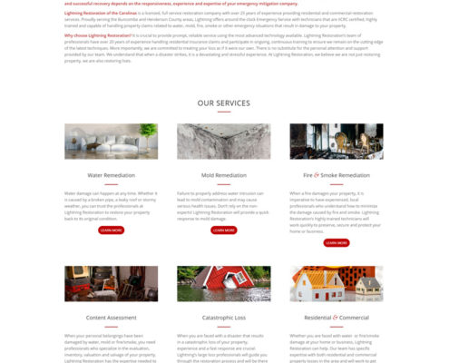Web Design for Lightning Restoration