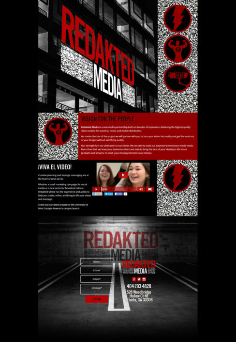 Web Design for Redakted