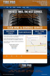 Web Design for Tire Pro
