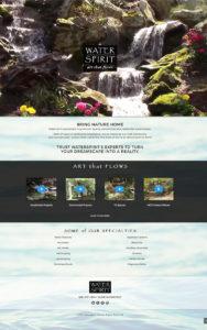 Web Design for Water Spirit