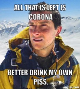 Drinking Corona? I don't think so.