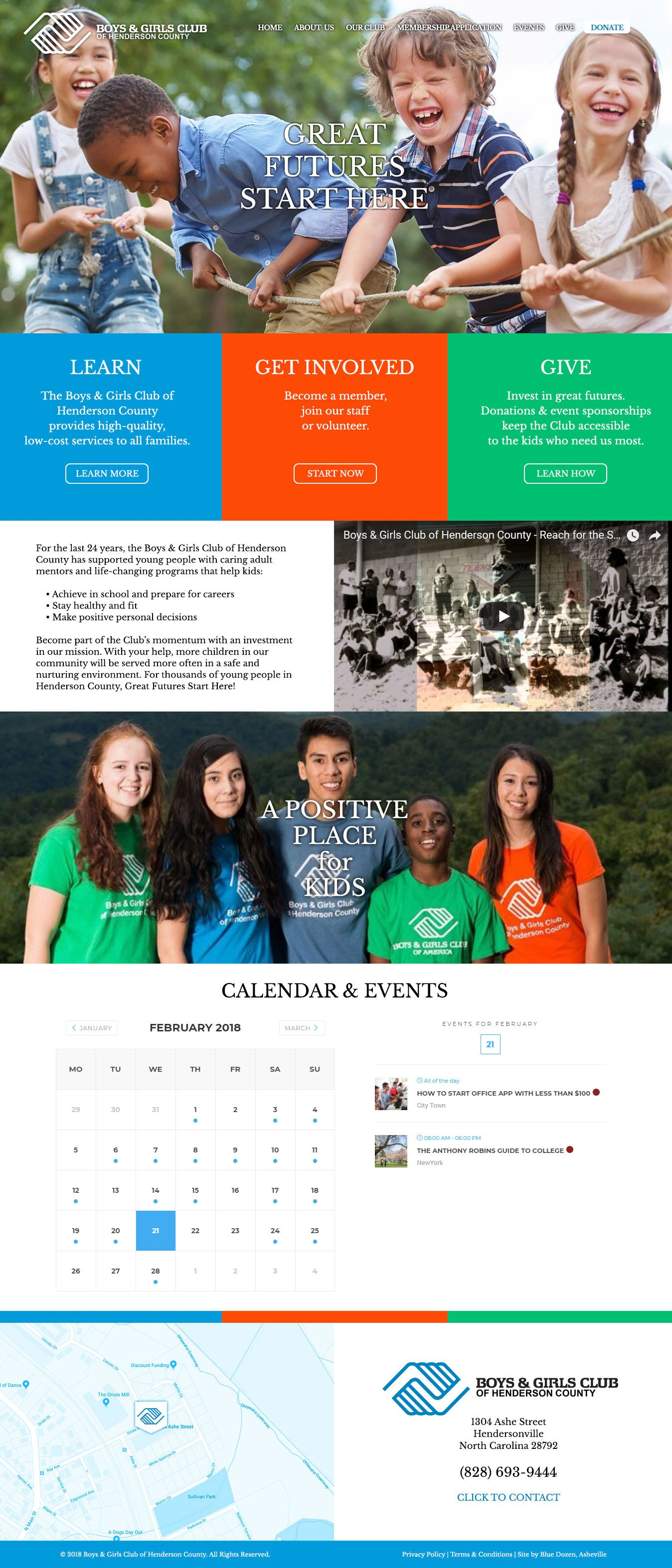 Boys & Girls Club of Henderson County Website Design