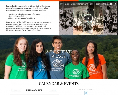 Boys & Girls Club of Henderson County Web Design