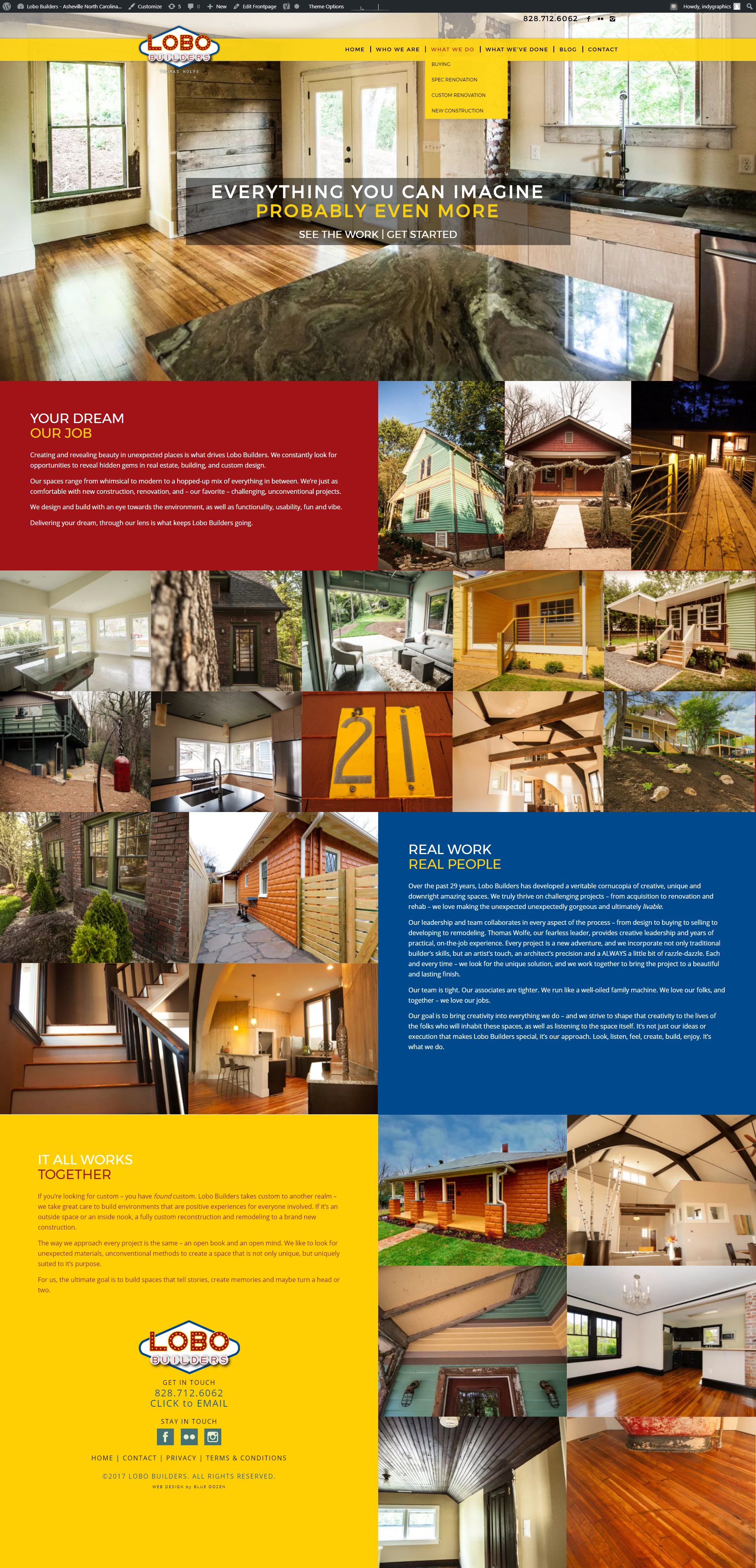 Lobo Builders Website Design