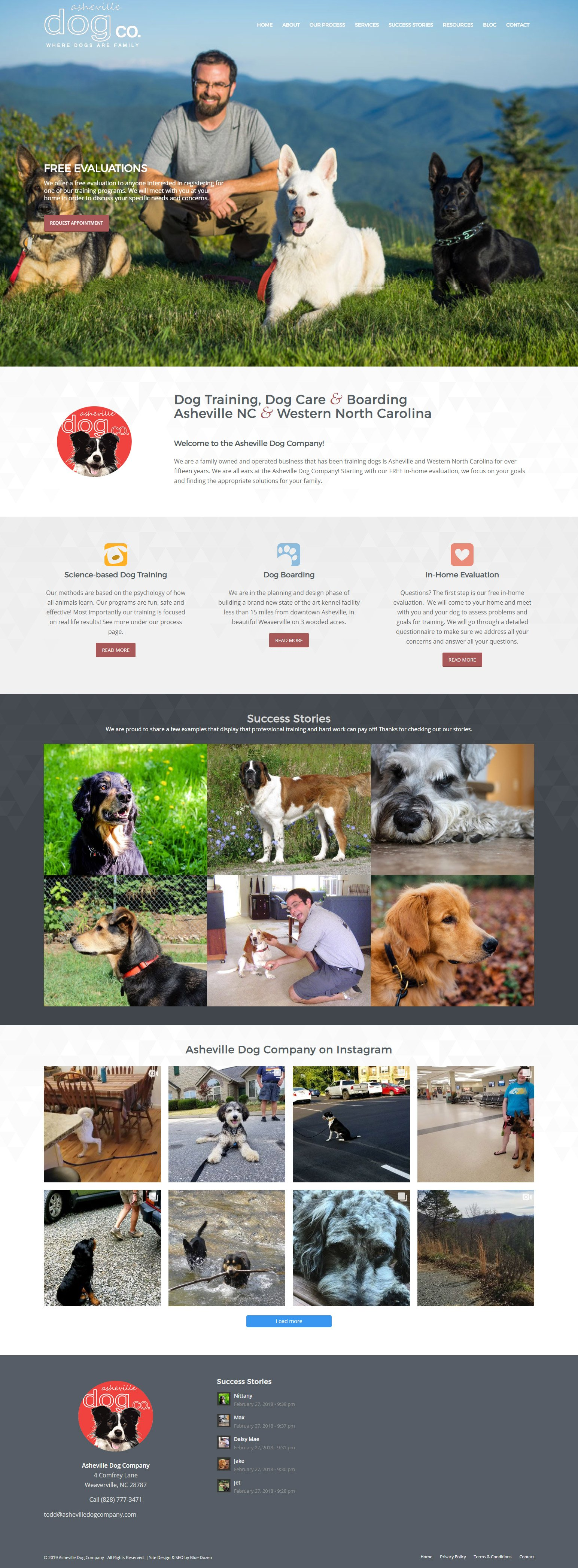 Asheville Dog Company Website Design
