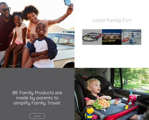 BeFamily Travel Website Design