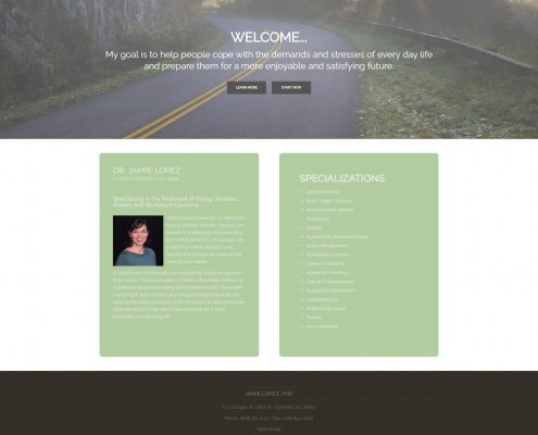 Dr. Jamie Lopez Website Design