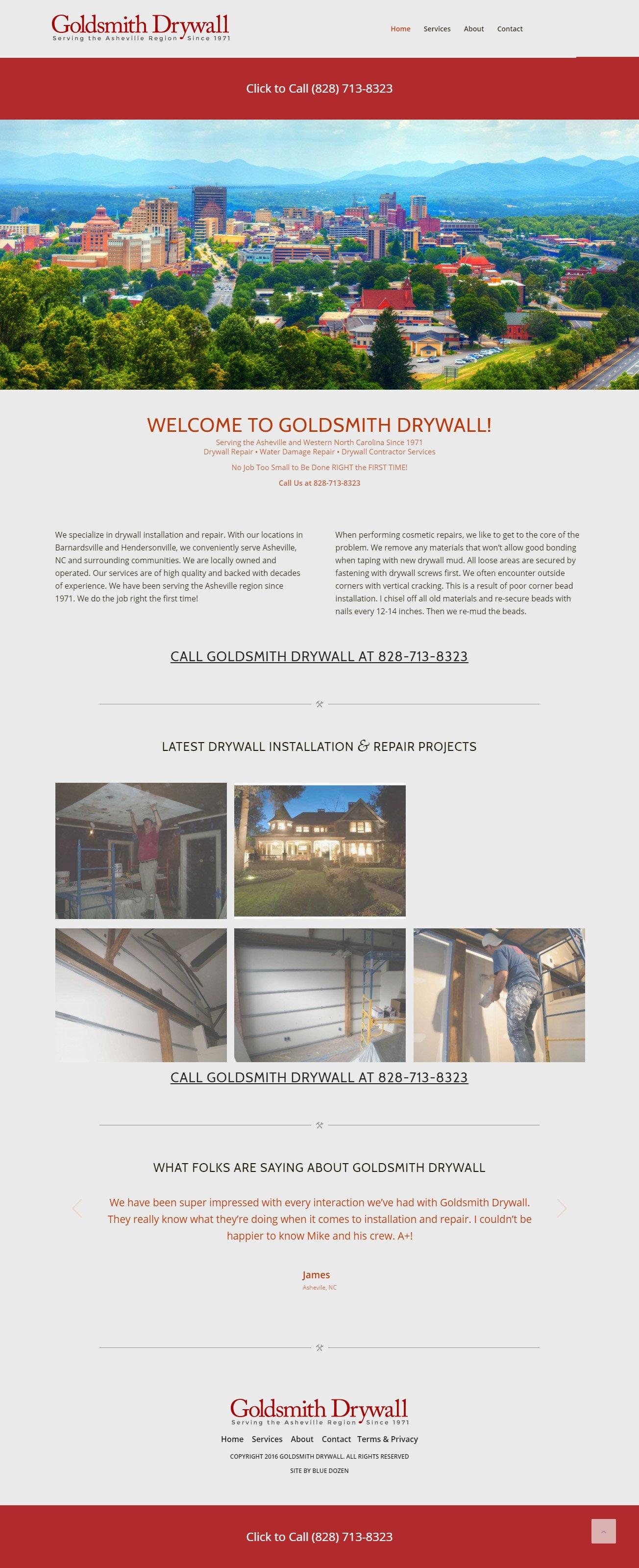 Goldsmith Drywall Website Design