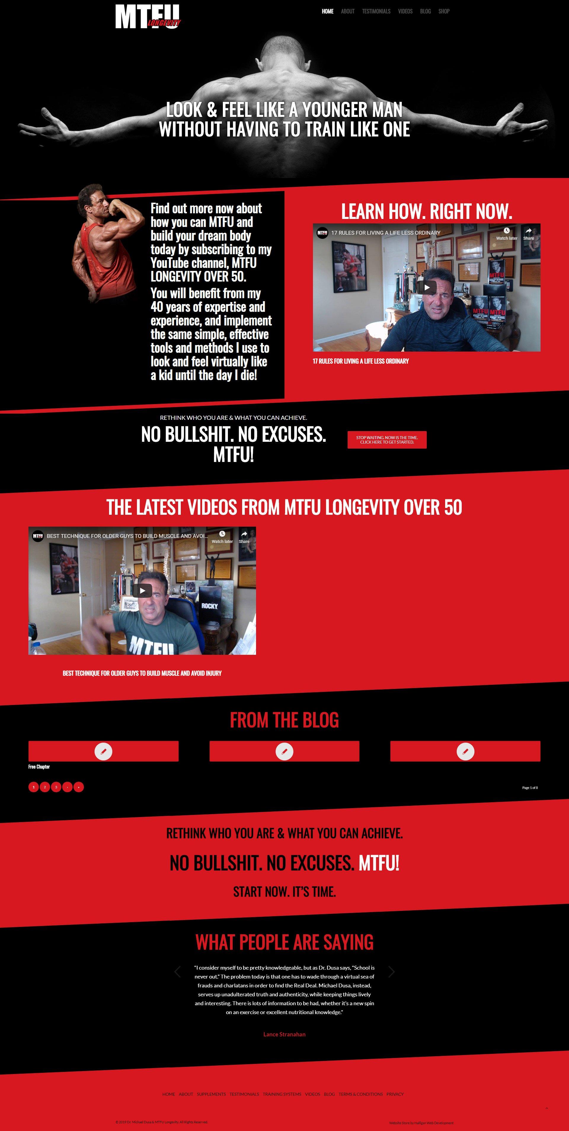 MTFU Society Website Design