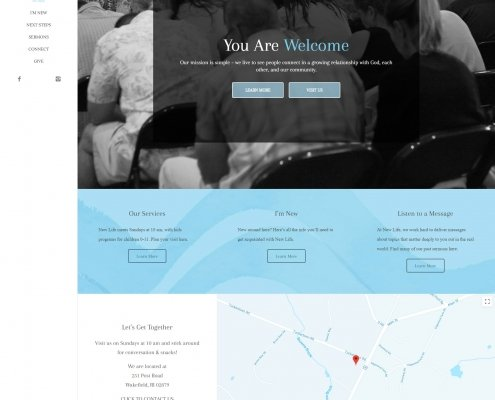 New Life Wakefiled Website Design