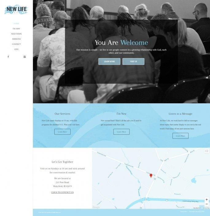New Life Wakefiled Website Design