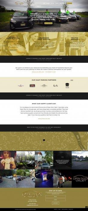 Open Door Valet Website Design