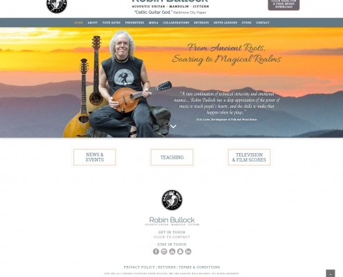 Robin Bullock Website Design